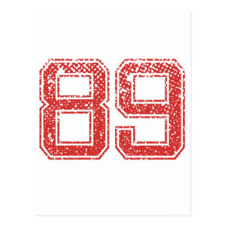 Rode Sporten Jerzee Nummer 89 Briefkaart