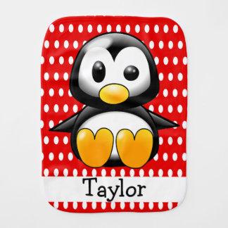 Rode Stip van de Pinguïn van de Cartoon van de Spuugdoekje