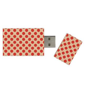 Rode Stippen Houten USB 3.0 Stick