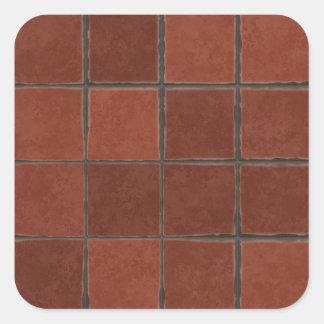 Vierkante tegel stickers - Rode mozaiek tegel ...