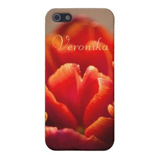 Rode tulp iPhone 5 cases