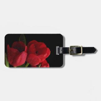 Rode Tulpen Bagagelabel