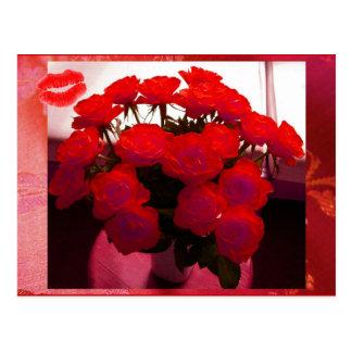Rode Valentijnskaart II van Rozen Klantgericht Bri Wenskaarten