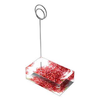 Rode van de de kunstlijst van de waratahwaterverf tafelnummer houder