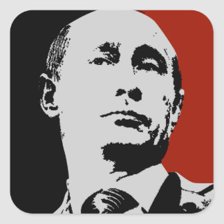 Rode Vladimir Putin Vierkante Sticker