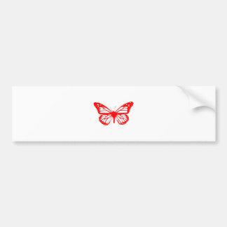 Rode Vlinder Bumpersticker