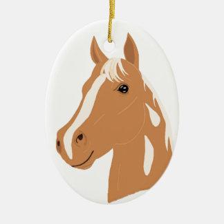 Rode Vlucht het Gelukkige Paard Keramisch Ovaal Ornament