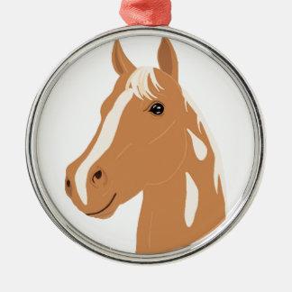 Rode Vlucht het Gelukkige Paard Zilverkleurig Rond Ornament