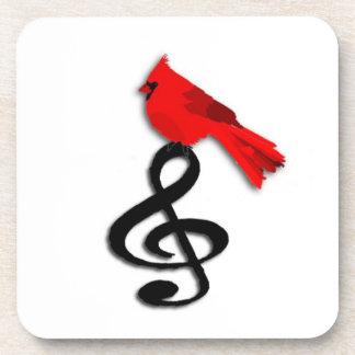 Rode Vogel & Vierkant Cork van de Muziek Drankjes Onderzetter