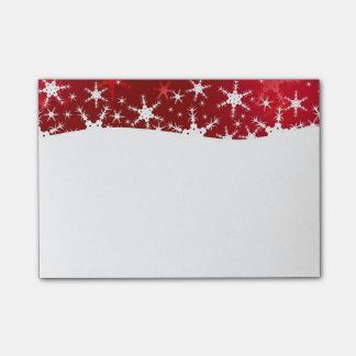Rode Vrolijke Kerstmis van sneeuwvlokken - Post-it® Notes