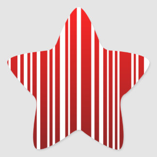 rode vrouwelijke streepjescode ster sticker