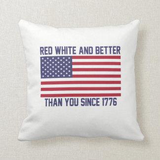 Rode Wit en Beter sinds 1776 Sierkussen