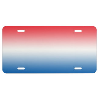 """""""Rode Witte en Blauwe Ombre"""" Nummerplaat"""