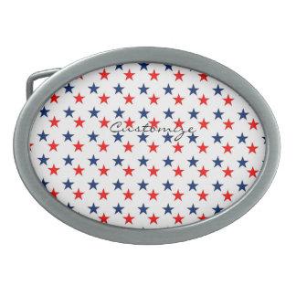 rode, witte en blauwe sterren patriottische gesp