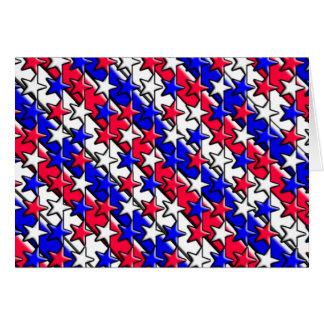 Rode, Witte, en Blauwe Strepen en Sterren Notecard Kaart