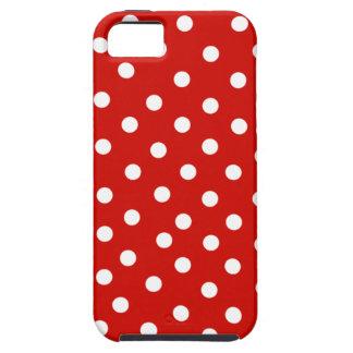 rode witte polkadot tough iPhone 5 hoesje