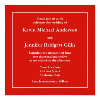 Rode & Witte Vierkante Uitnodigingen of