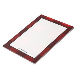 Rode & Zwarte Plaid Gepersonaliseerde Blocnote