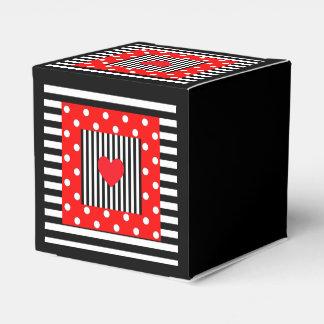 Rode zwarte strepen, de gunstdoos van het bedank doosjes