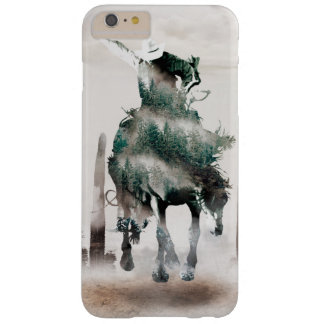 Rodeo - dubbele blootstelling - cowboy - barely there iPhone 6 plus hoesje