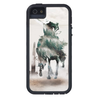 Rodeo - dubbele blootstelling - cowboy - tough xtreme iPhone 5 hoesje