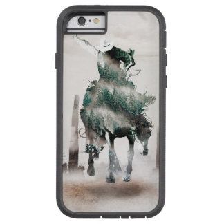 Rodeo - dubbele blootstelling - cowboy - tough xtreme iPhone 6 hoesje