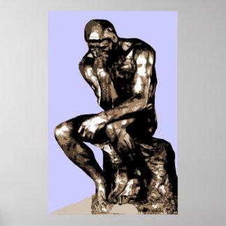"""Rodin de """"Denker"""" - Canvas Poster"""