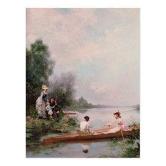Roeien op de Rivier, 19de eeuw Briefkaart