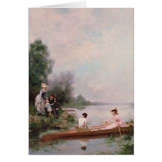 Roeien op de Rivier, 19de eeuw Kaart