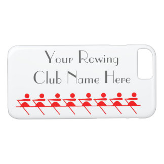 Roeiende Club, Pictogram Sculling in Rood iPhone 7 Hoesje