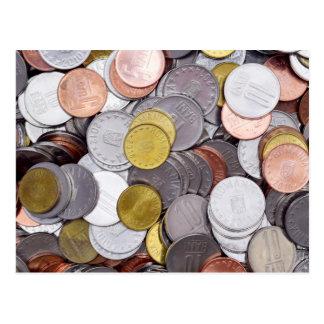 Roemeense muntmuntstukken briefkaart