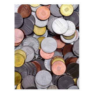 Roemeense muntstukken briefkaart
