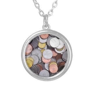 Roemeense muntstukken zilver vergulden ketting