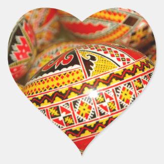 Roemenië Hartvormige Sticker