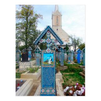 Roemenië, Marumures, Vrolijke Begraafplaats, Briefkaart