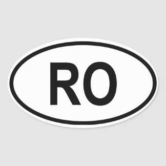 "Roemenië ""RO "" Ovale Sticker"