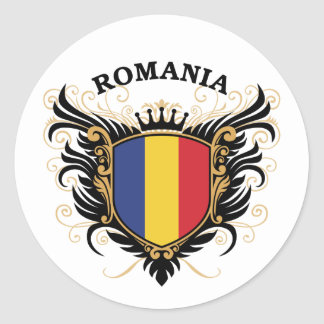 Roemenië Ronde Sticker
