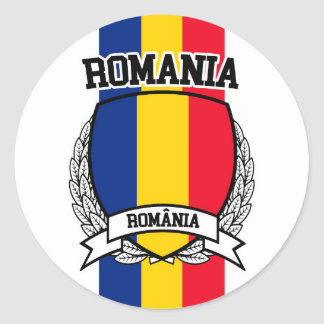 Roemenië Ronde Sticker