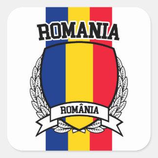 Roemenië Vierkante Sticker