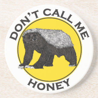Roep me niet Honing, de Feministische Slogan van Zandsteen Onderzetter