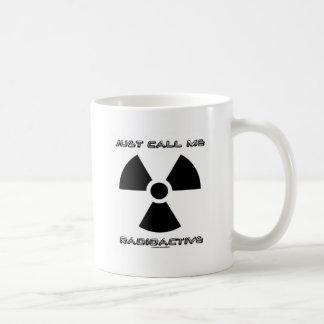 Roep me Radioactief enkel (Radioactief Teken) Koffiemok