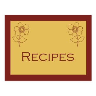 Roest en Tan de Kaart van het Recept