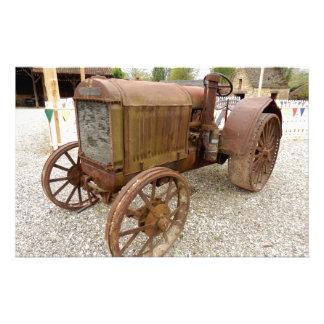 Roestige vintage tractorkantoorbehoeften briefpapier