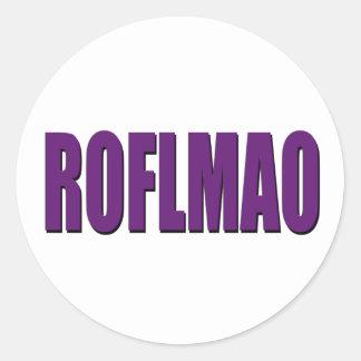 ROFLMAO paars Ronde Sticker