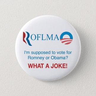 ROFLMAO - Stem Romney of Obama? Ronde Button 5,7 Cm