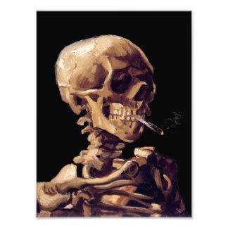 Rokend skelet door Van Gogh Foto Afdruk