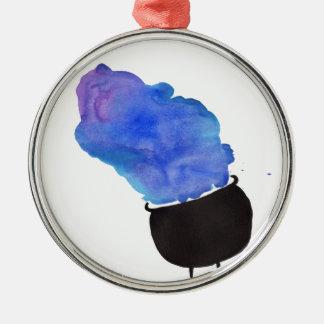 Rokende Ketel Zilverkleurig Rond Ornament