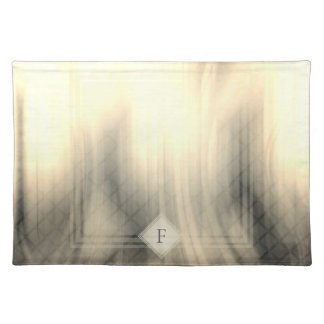 Rokerig & Langzaam verdwenen Abstract Monogram | Placemat