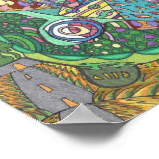 Rolling Heuvels van Schildpadden Poster