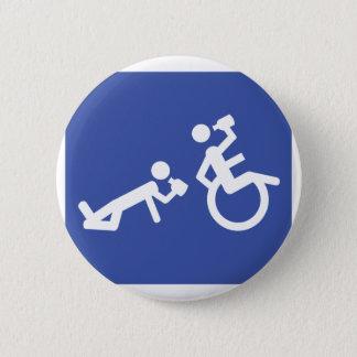 rolstoel alcoholist ronde button 5,7 cm